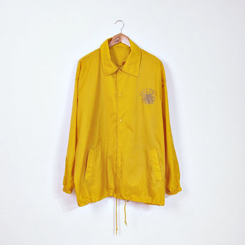 90s Rhythm of The Street Yellow Coach Jacket / Surf Skate Outerwear / Men Size L