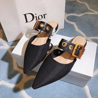 Dior Black Technical Canvas Flat Shoes #591