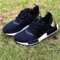 Adidas NMD Boots Fashion Sneaker sports shoes black-golden H-MDTY-SHINING