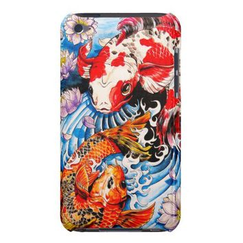 Cool oriental japanese Koi Fish lotus water tattoo Case-Mate iPod Touch Case from Zazzle.com