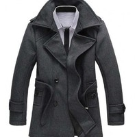 The Clark Double Breasted Trench Grey - leatherandcotton