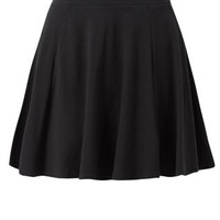 Black Skater Mini Skirt
