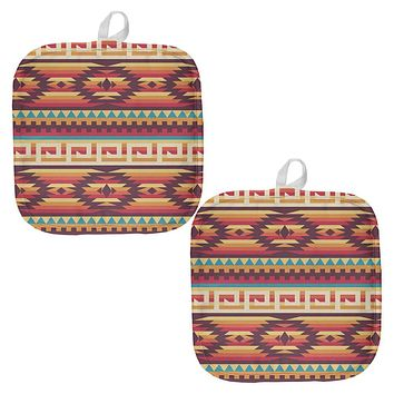 Native American Pattern All Over Pot Holder (Set of 2)