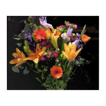 Colorful Floral Arrangement Wall Art