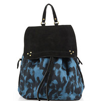 Leo Canvas & Suede Backpack