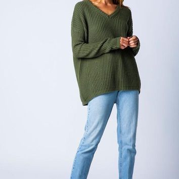 Autumn Chill Sweater - Olive