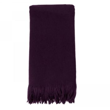 Cashmere Throw in Aubergine by Alashan