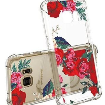 Rose Print Samsung Galaxy S7 Shockproof Case