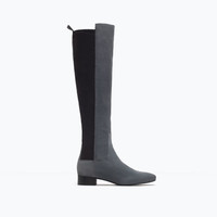 Stretch leather boot
