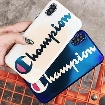 Champion Fashion Creative Blu-Ray Mobile Phone Cover Case For iphone 6 6s 6plus 6s-plus 7 7plus 8 8plus X XSMax XR