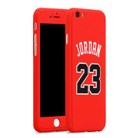 Nba Sports Basketball Star Full Body Protector Case Cover for iPhone 6/6s Michael Jordan Air 23 Red