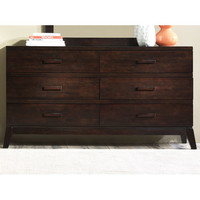 Liberty Furniture 668-BR31 Franklin Merlot Six Drawer Dresser