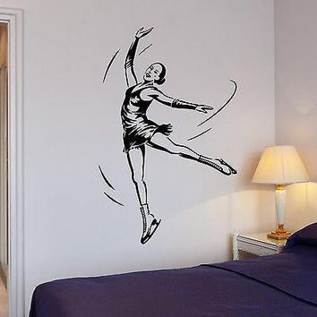 Wall Stickers Figure Skating Dance Ice Sports Girl Vinyl Decal Unique Gift (ig1970)