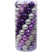 Holiday Time Shatterproof Christmas Ornaments, Set Of 101, Purple/Silver - Walmart.com