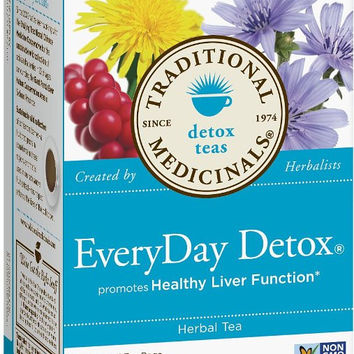 Traditional Medicinals EveryDay Detox Tea, 16 Tea Bags (Pack of 6)