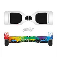 The Rainbow Paint Spatter Full-Body Skin Set for the Smart Drifting SuperCharged iiRov HoverBoard