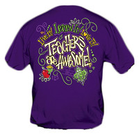 Sweet Thing Funny Learn It Teacher Purple Girlie Bright T-Shirt
