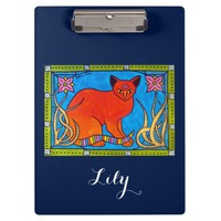 Indian Cat with Lily and Bindi Clipboard