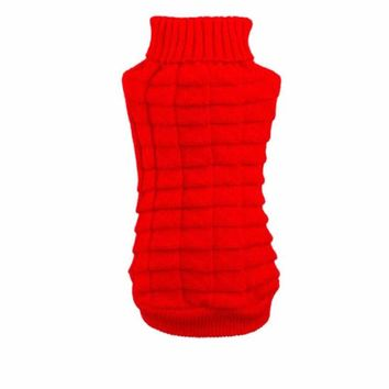 Dog Clothes Pet Winter Woolen Sweater Knitwear Puppy Clothing