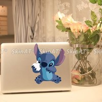 Top Decal Stitch - Macbook Decal Humor Sticker Art Skin Partial Protector
