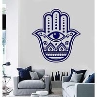 Vinyl Wall Decal Hamsa Hand of God Religion Eye Room Decor Sticker Unique Gift (652ig)