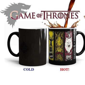 Game of Thrones Coffee Mug Mark Color Changing Cup Sensitive Ceramic Tea cup