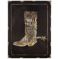Black & Brown Boot Wood Canvas Art | Shop Hobby Lobby