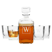Personalized 5pc. Decanter Set