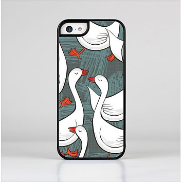 The Cartoon White Geese Skin-Sert Case for the Apple iPhone 5c
