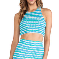 WOODLEIGH Carrie Crop Top in Blue
