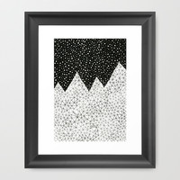 Day and Night (pen on paper) Framed Art Print by Anita Ivancenko