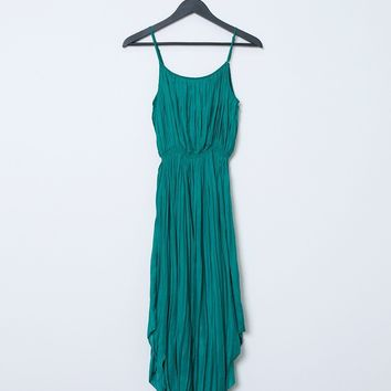 Green With Envy Pleated Dress