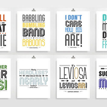 Harry Potter Poster - Movie Quotes, Typography Print, Quote Print, Movie Poster, Harry Potter Quote