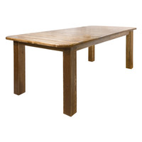 Montana Woodworks Homestead 4 Post Dining Table with Two 18 Inch Leaves Stained and Lacquered