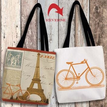 Postcard from Paris II Canvas Tote Bag