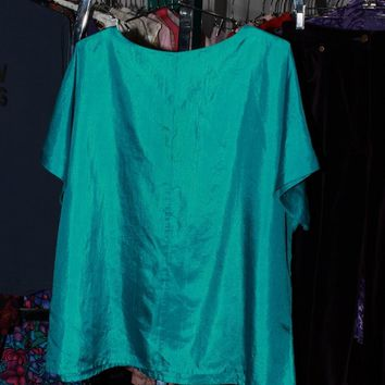 Teal Jewel Boxy Blouse / OS
