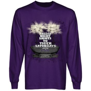 LSU Tigers Purple National Signing Day All The Lights Long Sleeve T-shirt