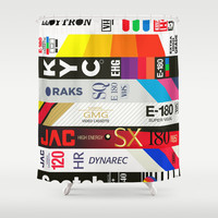 VHS Shower Curtain by BadOdds