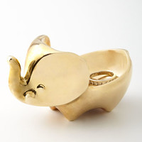 Jonathan Adler Brass Elephant Ring Bowl