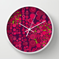 Groovy Dots Wall Clock by Webgrrl