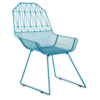Bunny Chair, Peacock Blue, Outdoor Dining Chairs