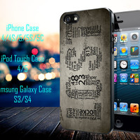 Lost TV Series Quotes Game Samsung Galaxy S3/ S4 case, iPhone 4/4S / 5/ 5s/ 5c case, iPod Touch 4 / 5 case