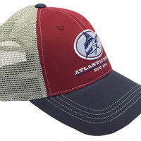 Outlaw Mesh-Back Hat - Maroon/Navy/Gray