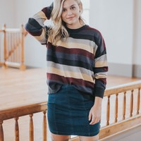 Brother's Striped Sweater, Black
