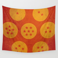 Dragon balls ( Dragon Ball Z) Wall Tapestry by TxzDesign