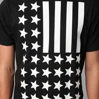 Inverted Flag Tee- Black