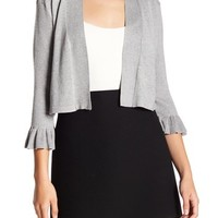 Philosophy Apparel | Ruffle Sleeve Knit Cardigan (Petite) | Nordstrom Rack
