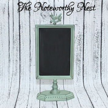 Kitchen decor // CoralDecor // Peach Decor // Chalkboard Decor // Wedding Chalkboard  // Chalkboard // List holder // photo holder