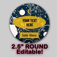 "Moon Lace ""EDITABLE"" ROUND STICKER Instant Download -Soap labels-Lotion Labels-Body Butter Labels - Product Labels Editable - Scrapbooking"