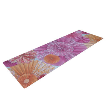 "Heidi Jennings ""Blossoming"" Pink Orange Yoga Mat"